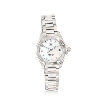 TAG Heuer Aquaracer Women's 32mm .11 ct. t.w. Diamond Watch in Stainless Steel, , default