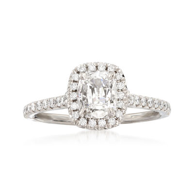 Henri Daussi .93 ct. t.w. Diamond Engagement Ring in 18kt White Gold, , default