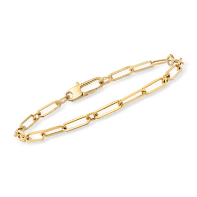 Roberto Coin 18kt Yellow Gold Thin Paper Clip Link Bracelet