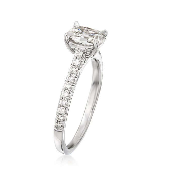 Henri Daussi .94 ct. t.w. Diamond Ring in 18kt White Gold