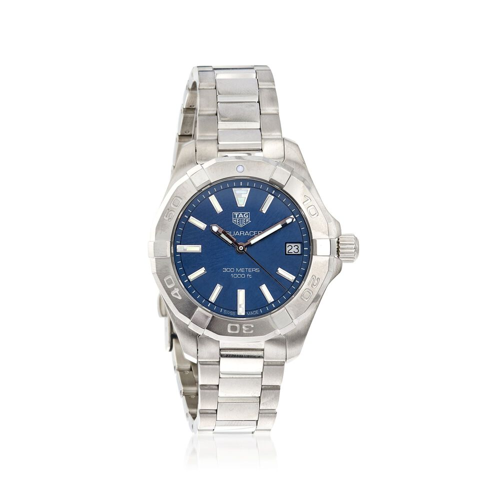 e8659c592c3 TAG Heuer Aquaracer 32mm Women s Stainless Steel Watch - Blue Dial ...