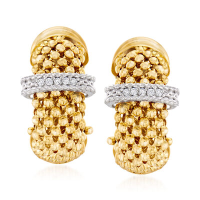 "Phillip Gavriel ""Popcorn"" .10 ct. t.w. Diamond Hoop Earrings in 14kt Yellow Gold, , default"