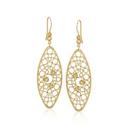 "Roberto Coin ""Bollicine"" .17 ct. t.w. Diamond Earrings in 18kt Yellow Gold, , default"