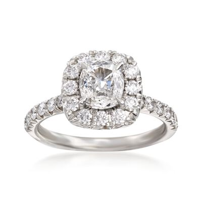 Henri Daussi 1.62 ct. t.w. Certified Diamond Engagement Ring in 18kt White Gold, , default