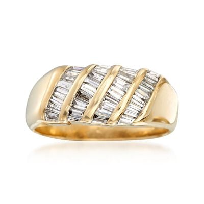 C. 1990 Vintage 1.40 ct. t.w. Baguette Diamond Ring in 14kt Yellow Gold, , default