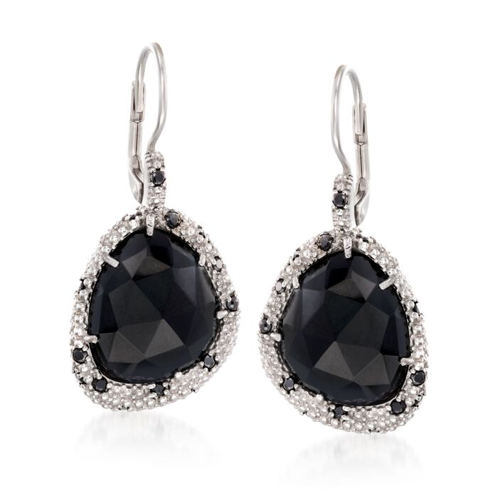 "Phillip Gavriel ""Popcorn"" Black Onyx and Black Spinel Drop Earrings in Sterling Silver , , default"