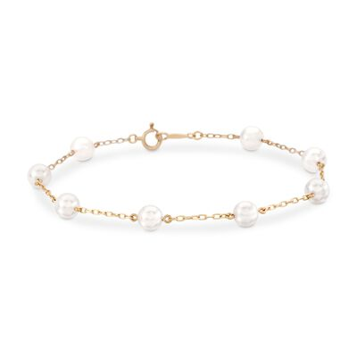 Mikimoto 5-5.5mm A+ Akoya Pearl Bracelet in 18kt Yellow Gold, , default