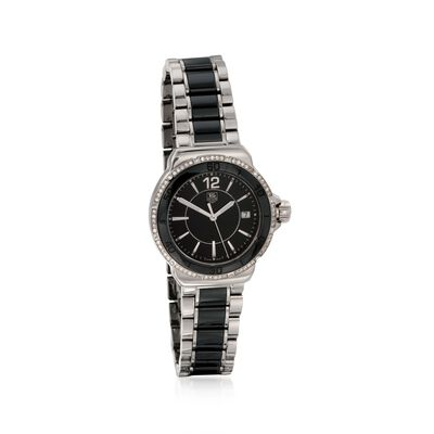 TAG Heuer Formula 1 Women's 37mm .35 ct. t.w. Diamond Watch in Stainless Steel and Black Ceramic