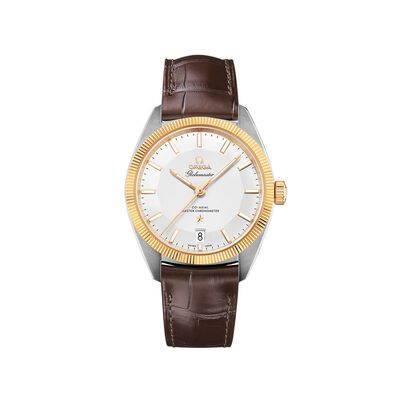 Omega Constellation Men's 39mm Stainless Steel and 18kt Gold Watch with Brown Leather Strap, , default