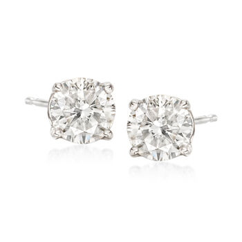 C. 2000 Vintage 1.60 ct. t.w. Diamond Stud Earrings in 14kt White Gold, , default