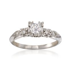 C. 1950 Vintage .33 ct. t.w. Diamond Engagement Ring in 14kt White Gold, , default