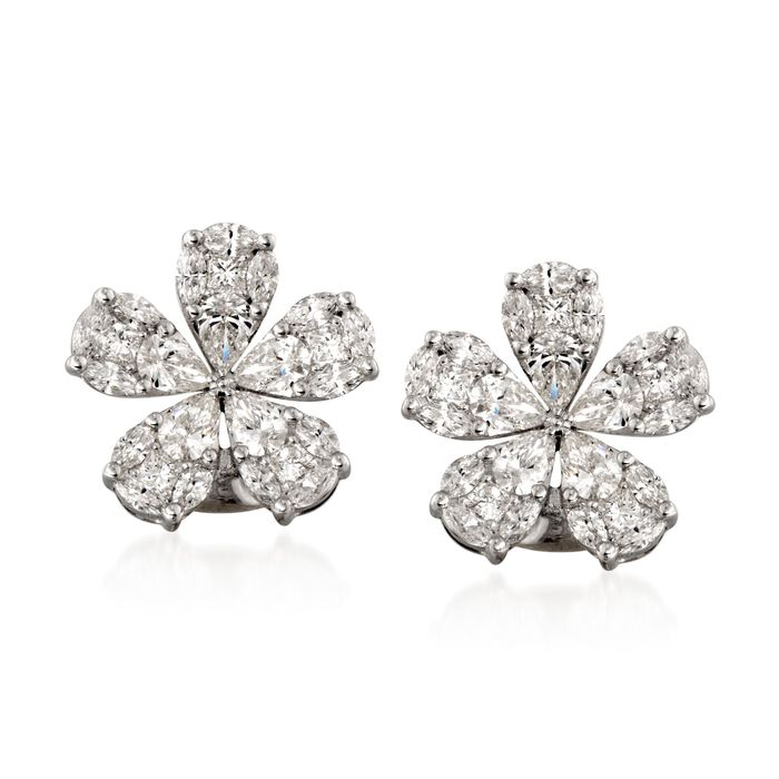 Simon G. 2.32 Carat Total Weight Diamond Earrings in 18-Karat White Gold, , default