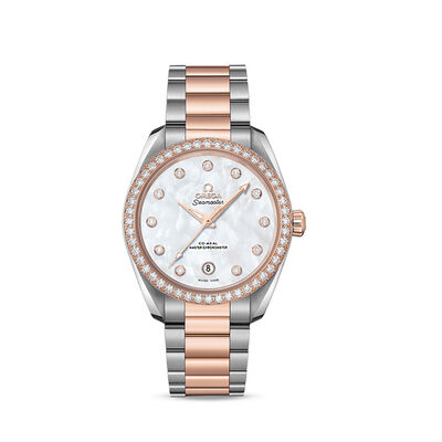 Omega Seamaster Aqua Terra Women's 38mm Automatic Stainless Steel and 18kt Rose Gold Watch