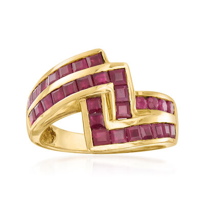C. 1980 Vintage 2.93 ct. t.w. Ruby Ring in 14kt Yellow Gold