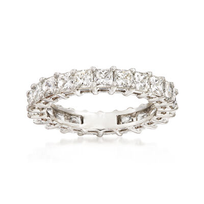 3.00 ct. t.w. Princess-Cut Diamond Eternity Band in Platinum, , default