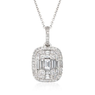 Simon G. .56 ct. t.w. Diamond Pendant Necklace in 18kt White Gold