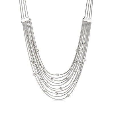 C. 1980 Vintage H. Stern .85 ct. t.w. Diamond Multi-Strand Necklace in 18kt White Gold