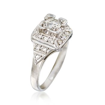 C. 1950 Vintage .70 ct. t.w. Diamond Ring in 14kt White Gold. Size 6.25, , default
