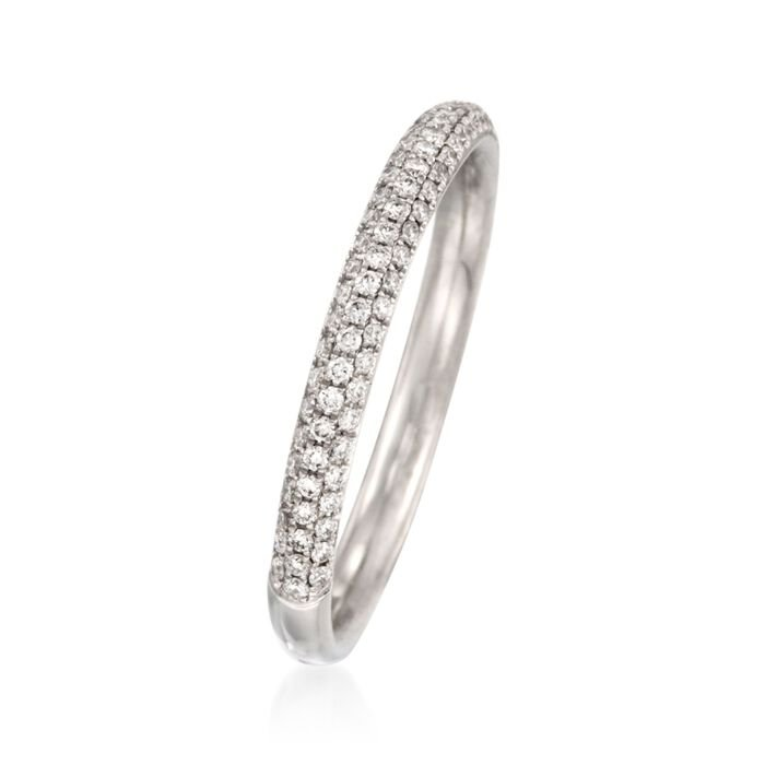 Simon G. .43 ct. t.w. Diamond Wedding Ring in 18kt White Gold
