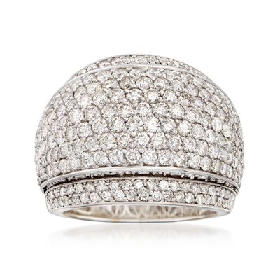 C. 1990 Vintage 3.53 ct. t.w. Diamond Dome Ring in 18kt White Gold, , default