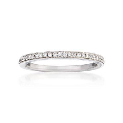 Henri Daussi .25 ct. t.w. Diamond Wedding Ring in 18kt White Gold