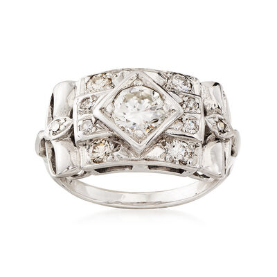 C. 1960 1.10 ct. t.w. Diamond Ring in 14kt White Gold, , default