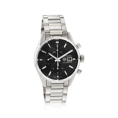 TAG Heuer Carrera Men's 41mm Chrono Day-Date Stainless Steel Watch