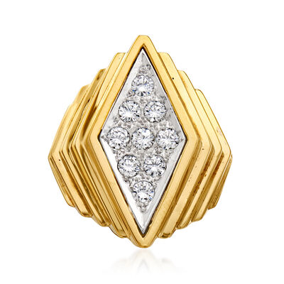 C. 1970 Vintage 1.00 ct. t.w. Diamond Fashion Ring in 14kt Yellow Gold