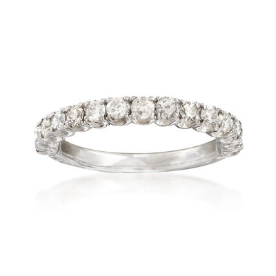 C. 1990 Vintage .75 ct. t.w. Diamond Wedding Band in 14kt White Gold, , default
