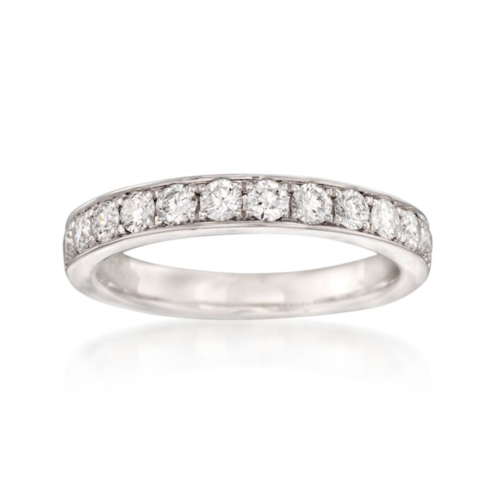 Henri Daussi .60 ct. t.w. Diamond Wedding Ring in 14kt White Gold