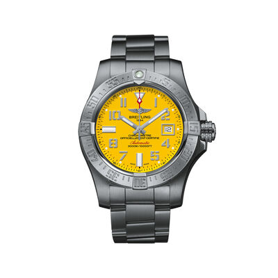 Breitling Avenger II Seawolf Men's 45mm Stainless Steel Watch - Yellow Dial , , default