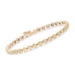 C. 1990 Vintage Tiffany Jewelry 2.25 ct. t.w. Diamond Tennis Bracelet in 18kt Yellow Gold, , default