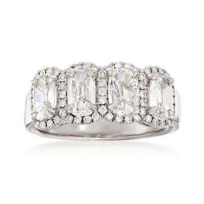 Henri Daussi 1.99 ct. t.w. Four-Stone Diamond Ring in 18kt White Gold, , default