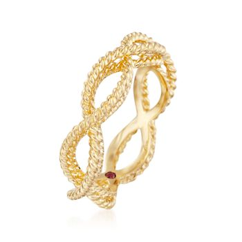 Roberto Coin Barocco 18-Karat Yellow Gold Braid Ring. Size 6.5, , default