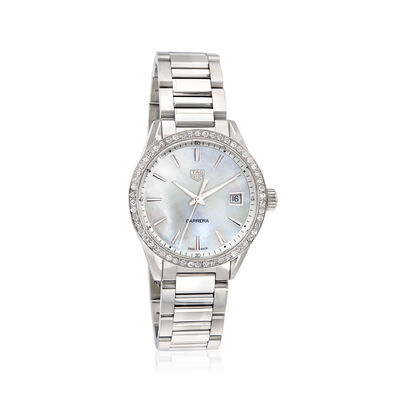 TAG Heuer Carrera Women's 36mm Stainless Steel Watch with Mother-Of-Pearl, , default