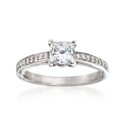 C. 2000 Vintage Tiffany Jewelry 1.00 ct. t.w. Certified Diamond Ring in Platinum, , default