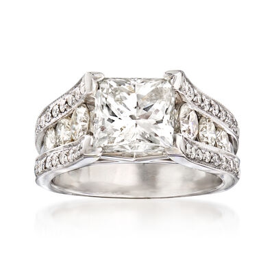 Majestic Collection 4.60 ct. t.w. Diamond Ring in 18kt White Gold