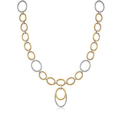 "ALOR ""Classique"" Two-Tone Stainless Steel Cable Multi-Link Necklace, , default"