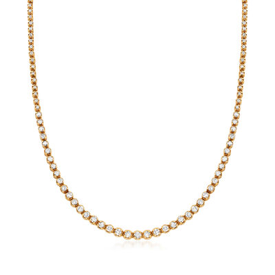 C. 2000 Vintage 5.00 ct. t.w. Diamond Tennis Necklace in 14kt Yellow Gold