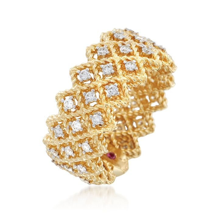 "Roberto Coin ""Barocco"" .72 ct. t.w. Diamond Ring in 18kt Yellow Gold"