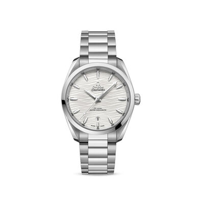 Omega Seamaster Aqua Terra Woman's 38mm Automatic Stainless Steel Watch with Silver Dial