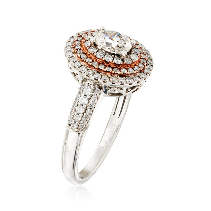 C. 2000 1.11 ct. t.w. Diamond Ring in 14kt Two-Tone Gold