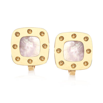 "Roberto Coin ""Pois Moi"" 18kt Yellow Gold and Mother-Of-Pearl Earrings"