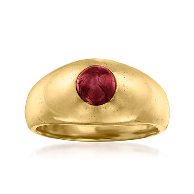 C. 1970 Vintage 1.25 Carat Ruby Ring in 14kt Yellow Gold
