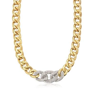 C. 1980 Vintage 2.50 ct. t.w. Diamond Collar Necklace in 18kt Yellow Gold