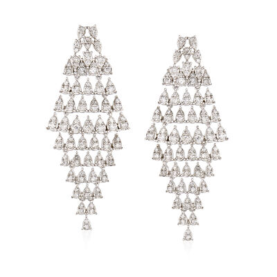 1.60 ct. t.w. Diamond Cascading Drop Earrings in 18kt White Gold