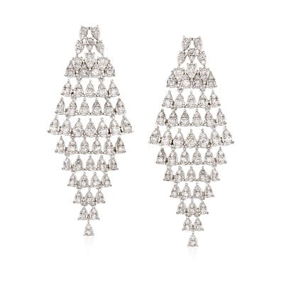 1.60 ct. t.w. Diamond Cascading Drop Earrings in 18kt White Gold, , default