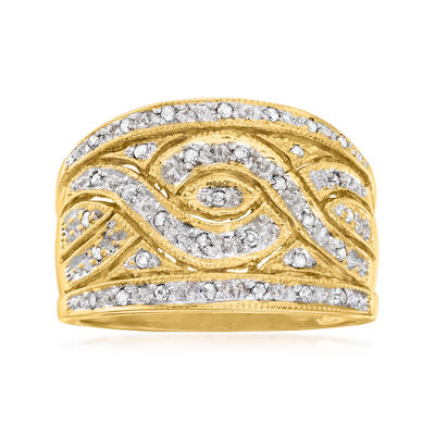 C. 1980 Vintage .15 ct. t.w. Diamond Ring in 14kt Yellow Gold