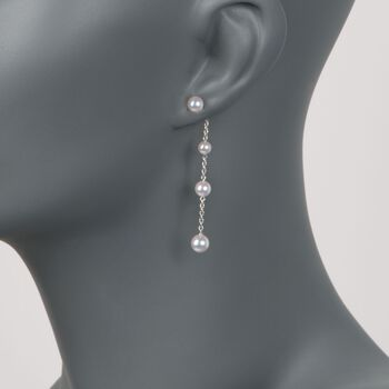 Mikimoto 4.5-6mm A+ Akoya Pearl Drops in 18-Karat White Gold, , default