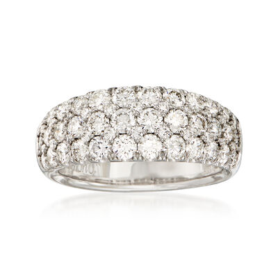 2.00 ct. t.w. Diamond Multi-Row Ring in 18kt White Gold